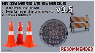 ats mods, ats real symbols, ats realistic mods, recommended mods ats, american truck simulator mods, ats hn immersive symbols v3.5