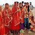 खैरा : अखंड राम धुन को लेकर निकाली गई कलश शोभा यात्रा
