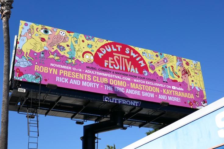 Adult Swim Festival 2020 billboard