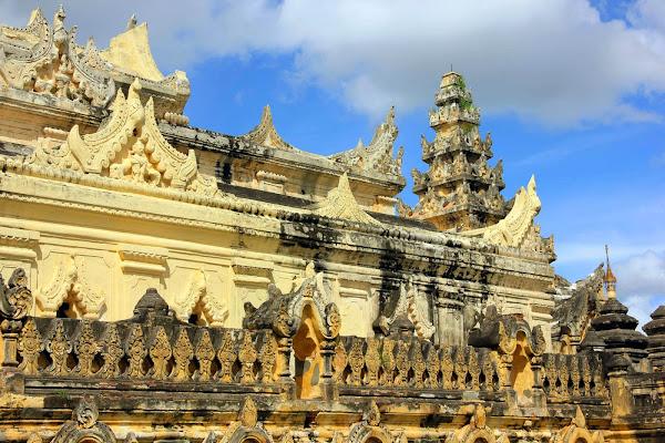 Monasterio Maha Aung Mye Bonzan (Ava, Mandalay, Myanmar)