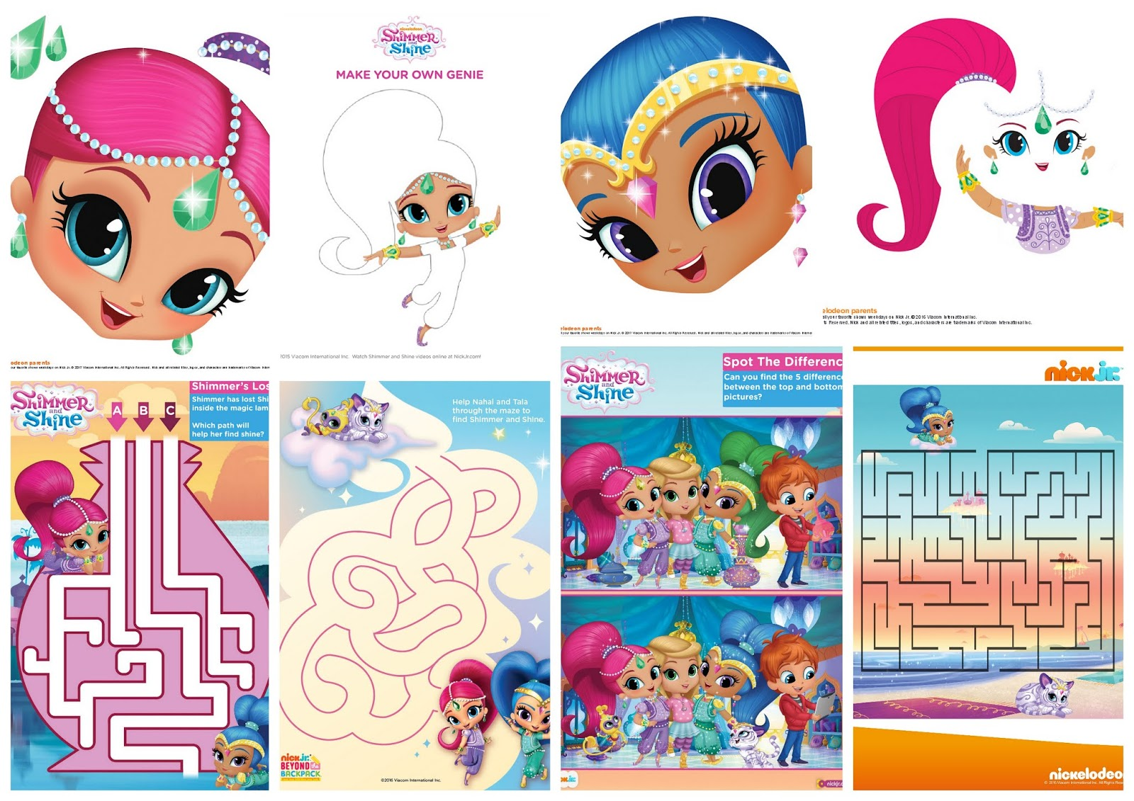 Shimmer And Shine Free Printable Nickelodeon Activity Book Oh