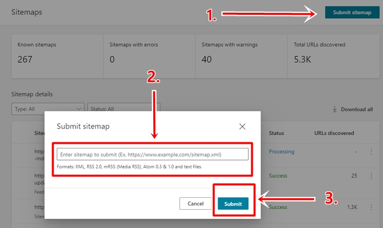 cara mudah submit sitemap ke bing webmaster tools
