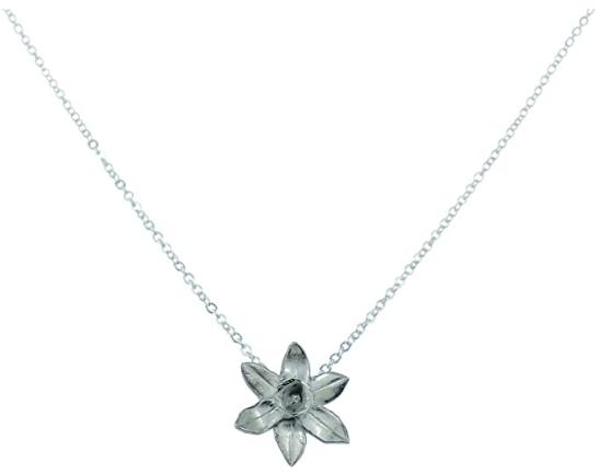 tin daffodil pendant traditional anniversary gift