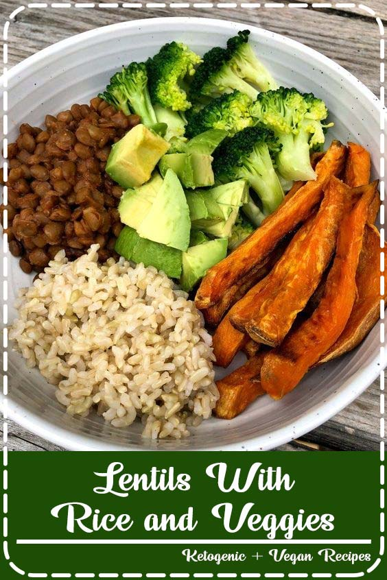 I have a small addiction to roasted sweet potatoes  Lentils With Rice and Veggies