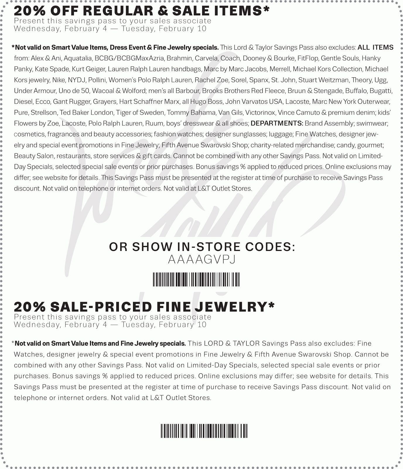 picture about Lord and Taylor Printable Coupon referred to as Lord and taylor price reduction coupon - Refreshing Retail outlet Promotions