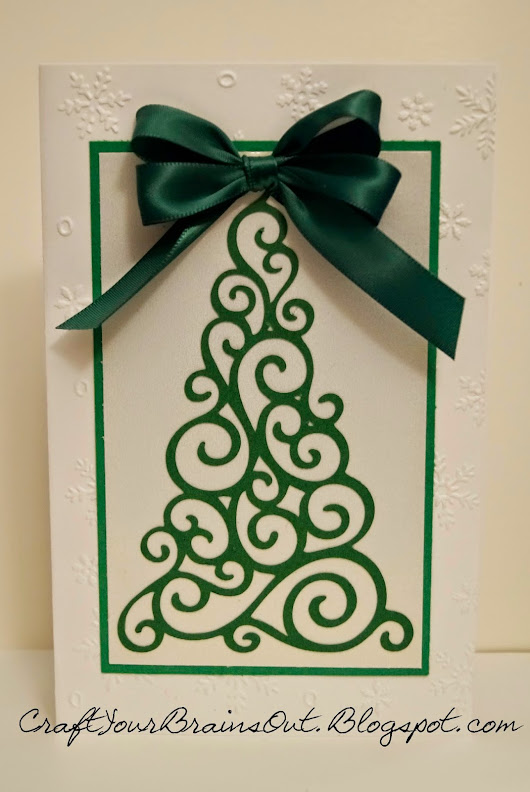 Twirly Swirly Christmas Card