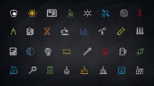 Fully Editable Linear Colored Icon Set for Free PowerPoint Template Slide 5