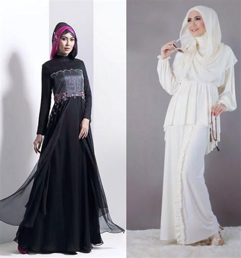 gaun pesta muslim modern terbaru 2016/2017