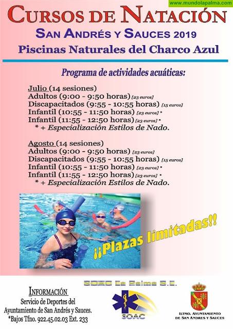 Cursos de Natación en San Andrés y Sauces - Verano 2019