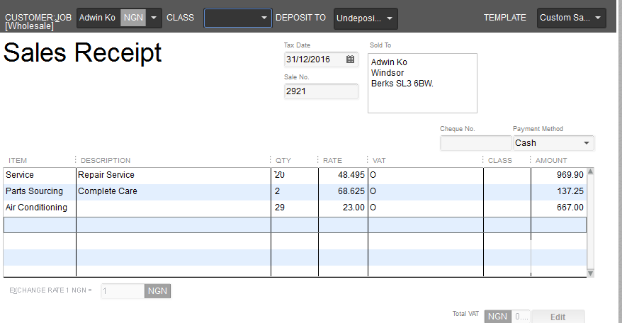 quickbooks sales how to record sales receipt in quickbooks