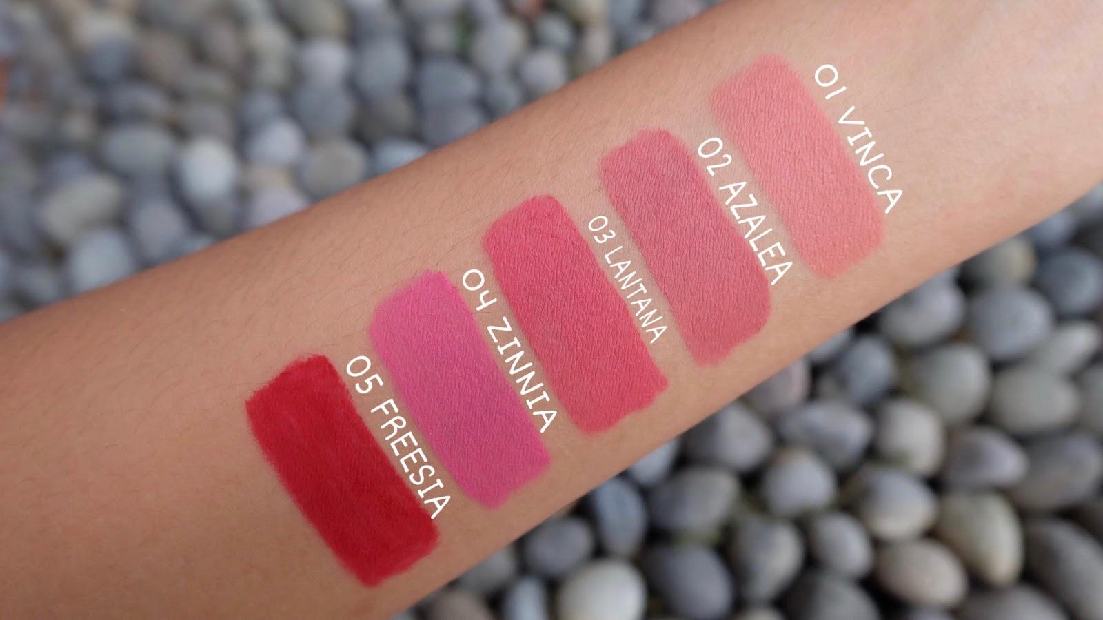Review Purbasari Hi Matte Lip Cream F A S H I O N C Lipstick Swatches