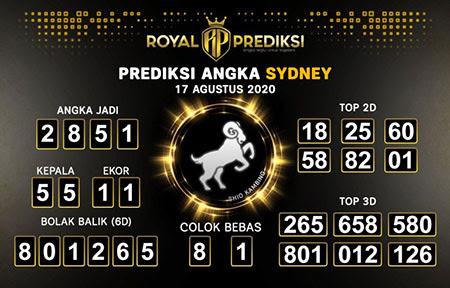 Royal Prediksi Sidney Senin 17 Agustus 2020