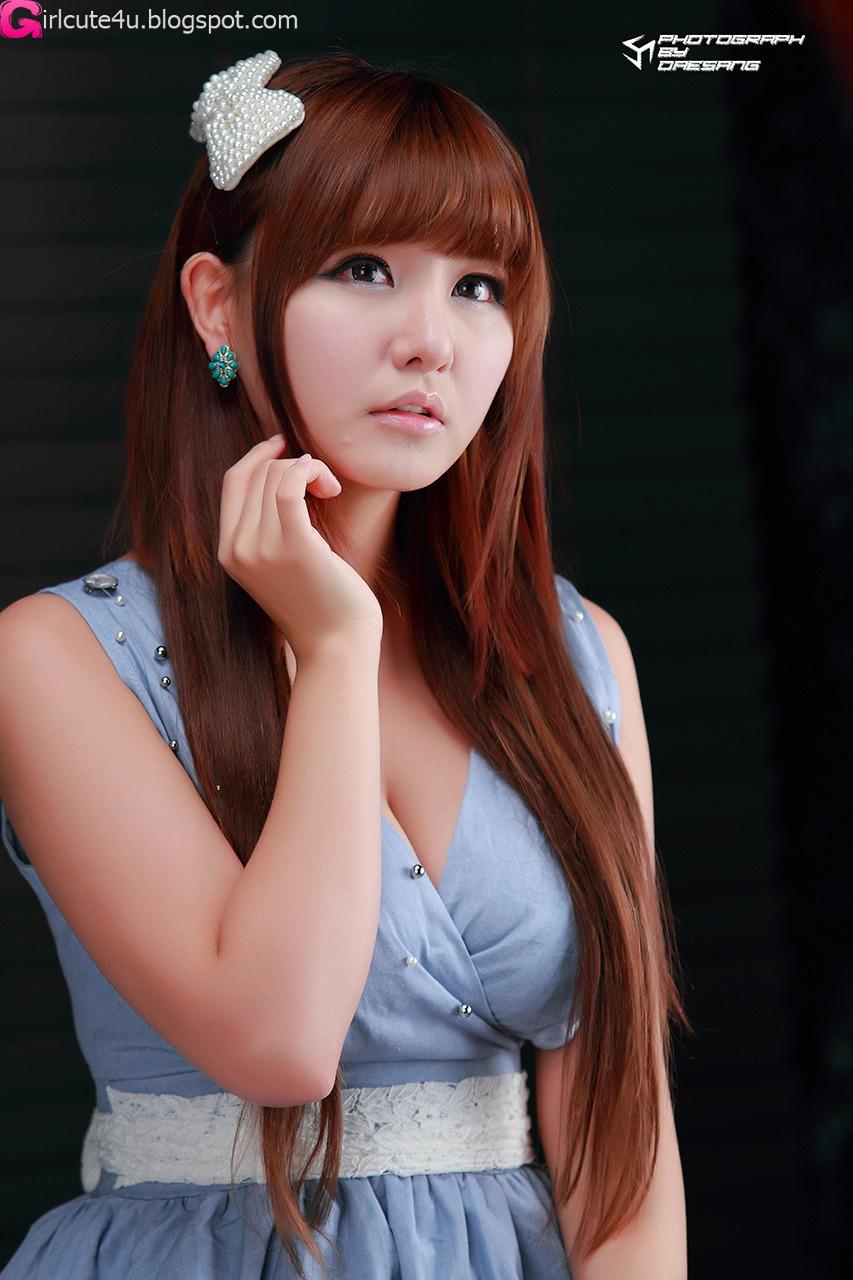 xxx nude girls: Ryu Ji Hye - Blue and White Dress