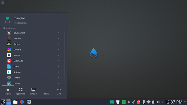beautiful manjaro kde