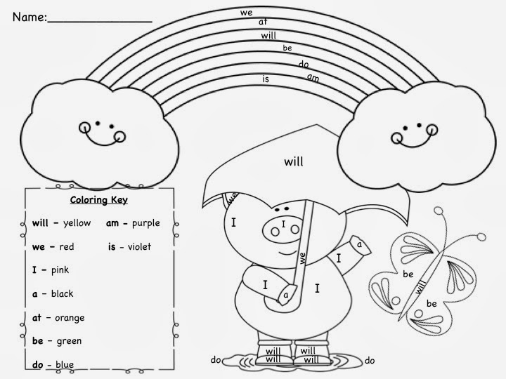Sight Word Coloring Pages Printable - Free Coloring Pages