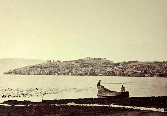Ohrid view from the southeast End of September 1863 01 - Macedonia in 1863 - Photo Collection of Josef Székely