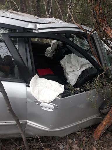 Avarējušajā mašīnā nostrādāja drošības spilveni