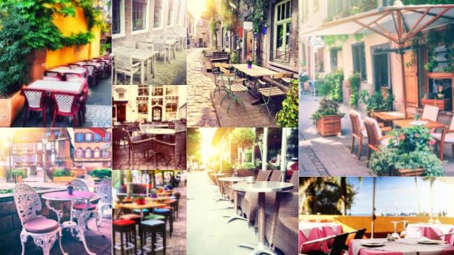 تحميل 9 صور لكراسي المقاهي التي على الشارع بجودة عالية