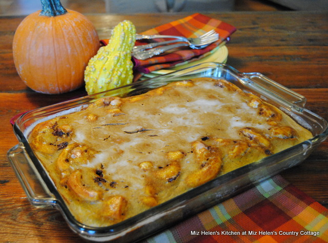 Pumpkin Roll Breakfast Bake at Miz Helen's Country Cottage