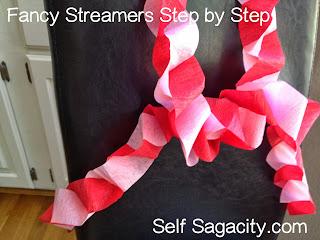 Fancy paper streamers intertwined