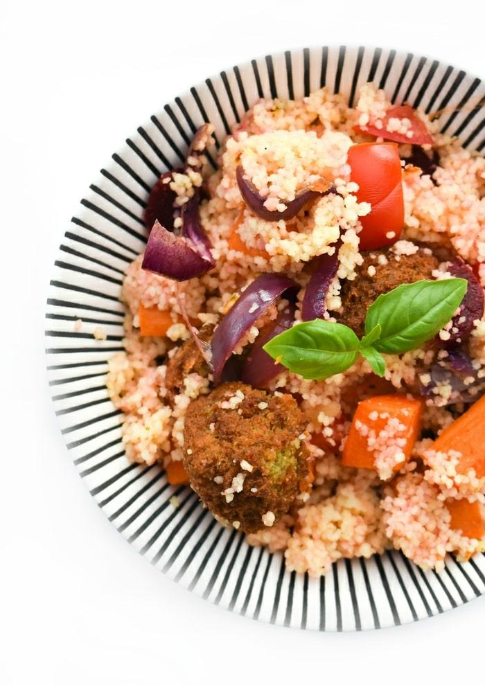 Falafel couscous