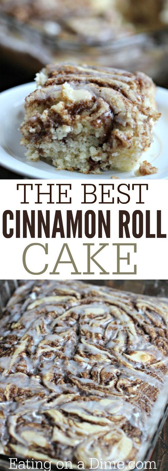 The Best Cinnamon Roll Cake Recipe #cakerecipe #dessertrecipes