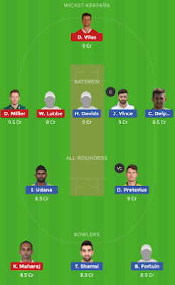 DUR vs PR dream 11 team | PR vs DUR