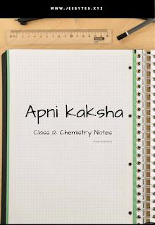 Apni Kaksha Chemistry Notes pdf