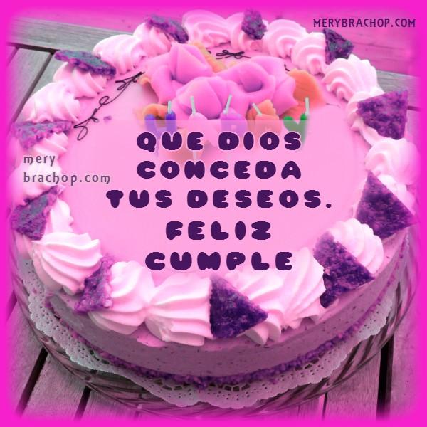 Tarjeta de cumpleaños con bonito saludo para una amiga,  mensaje cristiano de cumple por Mery Bracho
