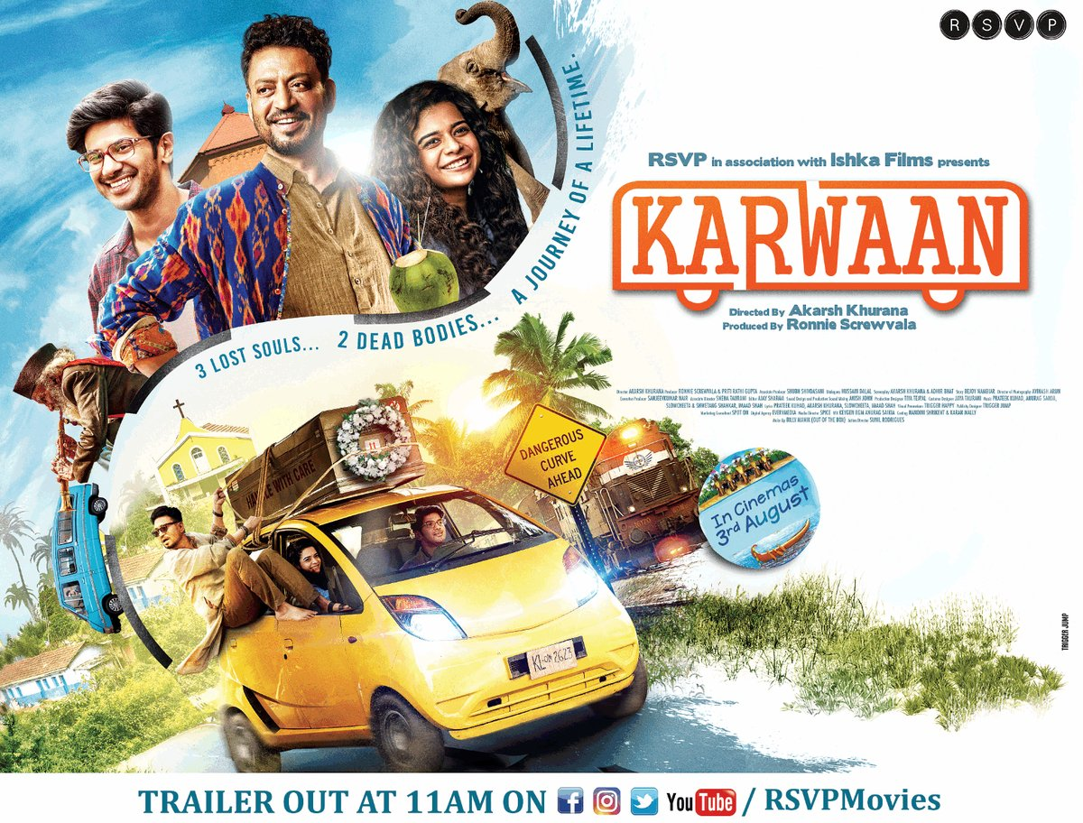 Bollywood movie Karwaan Box Office Collection wiki, Koimoi, Wikipedia, Karwaan Film cost, profits & Box office verdict Hit or Flop, latest update Budget, income, Profit, loss on MT WIKI, Bollywood Hungama, box office india