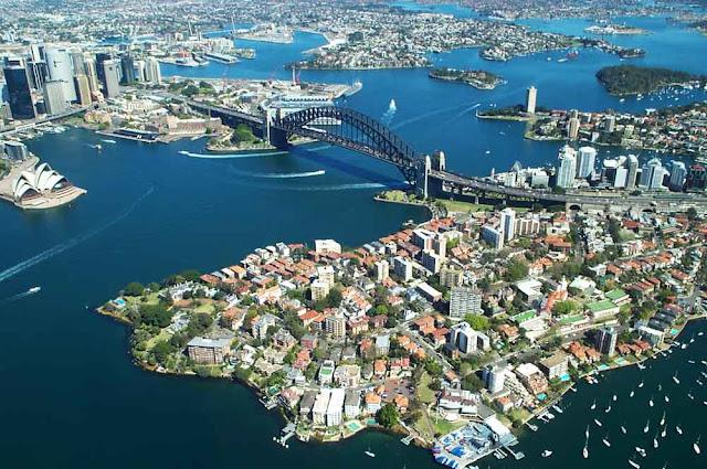 Imagem aérea de Sydney