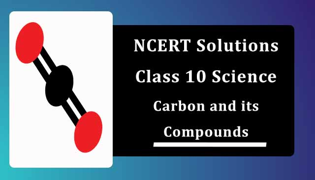 NCERT Solutions for Class 10 Science Chapter 4 Carbon and its Compounds