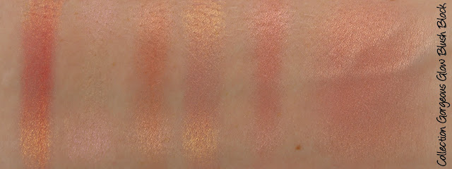 Collection Cosmetics Gorgeous Glow Blush Block Swatches & Review