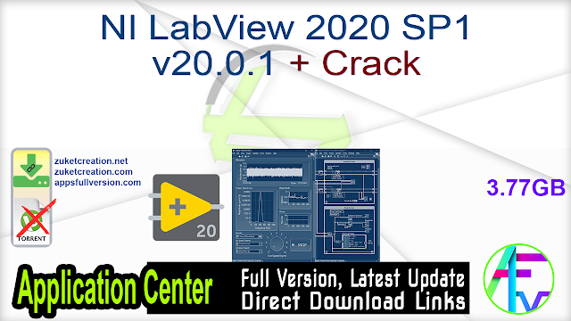 NI LabView 2020 SP1 v20.0.1 + Crack