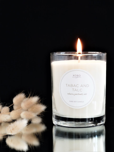 parfum d'ambiance, tabac and talc kobo candle review, kobo candles review, avis bougie parfumée kobo, bougie parfumée au tabac, bougie parfumée propre