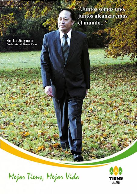Presidente y Fundador Tiens señor Li Yinjuan