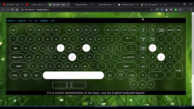 مواقع لتجربة أزرار لوحة المفاتيح