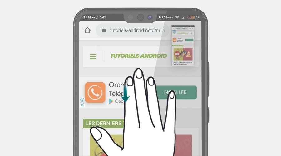 OnePlus : capturer écran avec 3 doigts