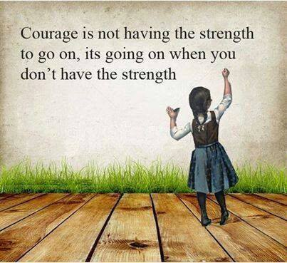 Courage is not having the strength to go on; It is going on when you do not have the strength.