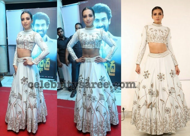 Catherine Tresa in White Lehenga