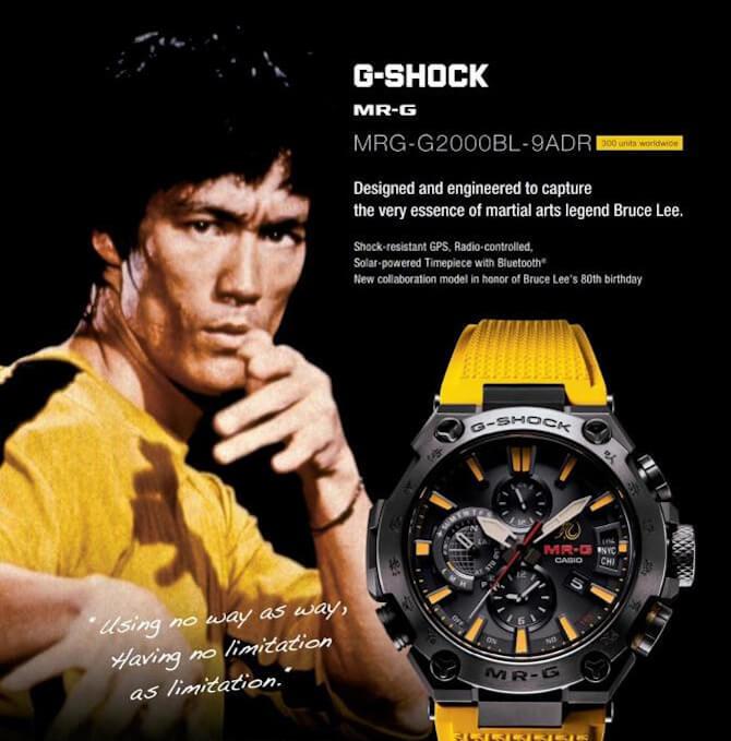 Model Kolaborasi Bruce Lee x G-Shock MRG-G2000BL-9A