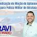 Vereador Ravi Machado indica moção de aplausos a Polícia Militar de Ibirataia