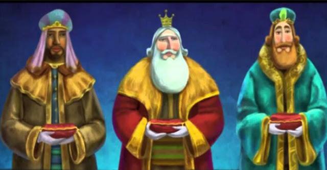 Reyes Magos a los niños