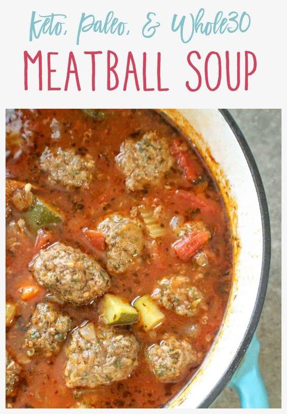 Paleo & Keto Meatball Soup