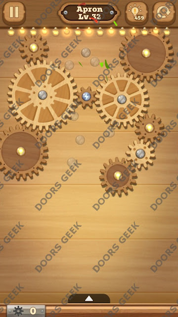 Fix it: Gear Puzzle [Apron] Level 32 Solution, Cheats, Walkthrough for Android, iPhone, iPad and iPod