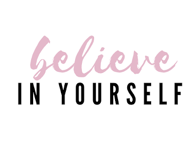 """text """"believe in yourself"""""""