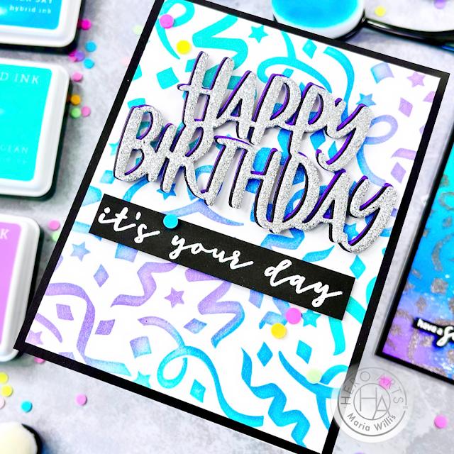 Cardbomb, Maria Willis Hero Arts, My Monthly Hero Kit June 2021, Video, video tutorial,#shaker card, cards, cardmaking, ink blending, paper craft, art, diy, handmade, copic coloring, birthday,die cutting,