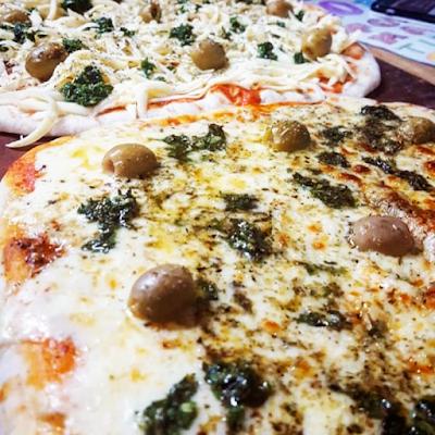 Muzza Doble - Salsa, Doble muzarella, Provenzal y Aceitunas - 55.000