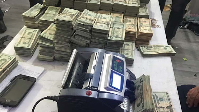 """VIDEO: Duro golpe al CDG de Matamoros, """"les pusieron dedo"""" y les decomisan casi 2 millones de dólares y 130 kilos de coca."""