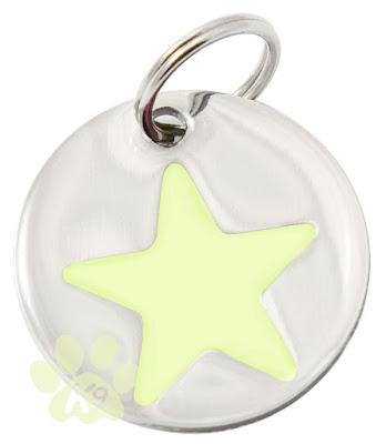 glow-in-the-dark star id tag